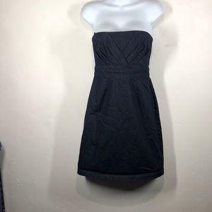 New York & Company dark denim strapless dress sz 2